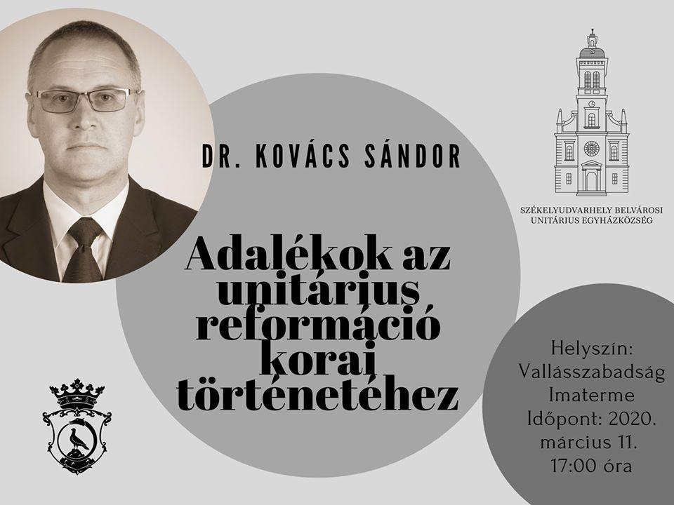 Dr. Kovács Sándor: Adalékok az unitárius reformáció korai történetéhez